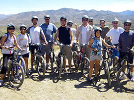 Group Mountain Biking