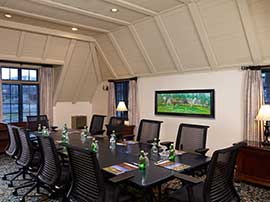 Brookside Room — Boardroom Setup