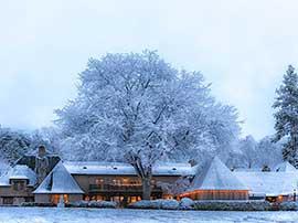 Main Lodge After Snowfall