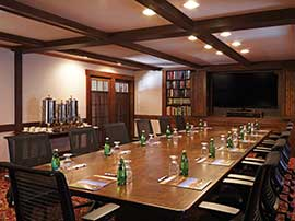 The Library — Conference Table Setup